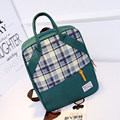 Plaid Women England Style Canvas Backpack Fashion Casual Hand held Bag Daypack Designer Contrast Color Schoolbag