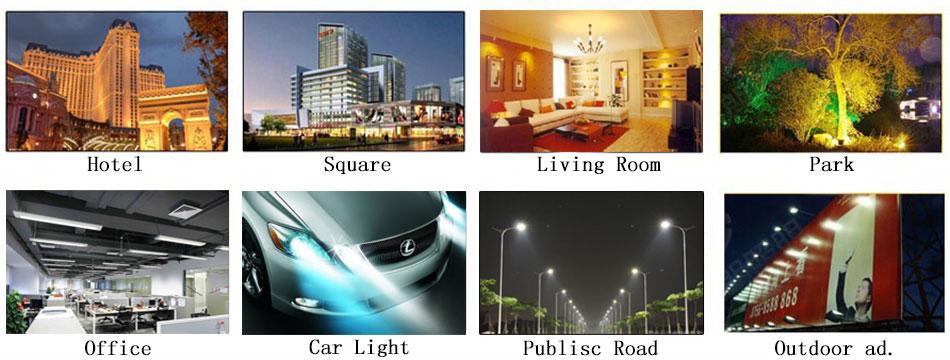 application LED bulb lamp lighting cob chip