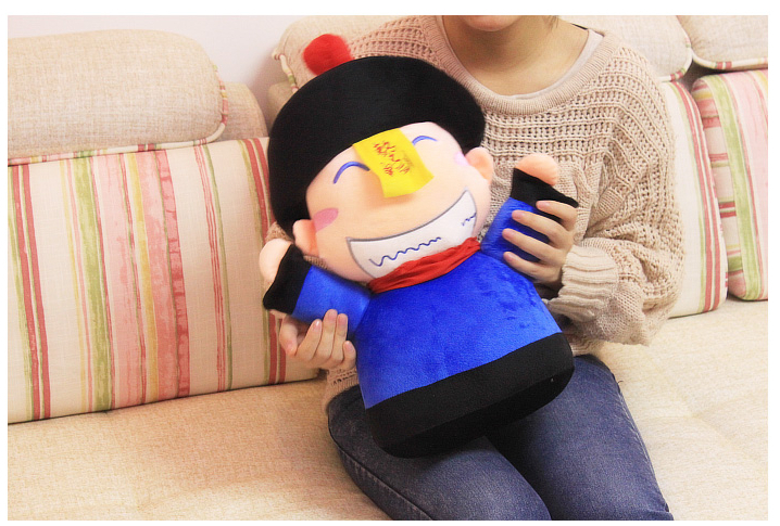 Special cute 1pc 50cm funny joke zombie plush doll hand warm pillow stuffed toy children novelty creative gift for girl(China (Mainland))