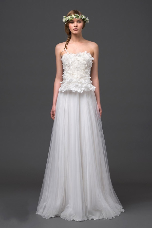 New arrival 2015 fashionable strapless cheap wedding for Cheap wedding dresses made in china