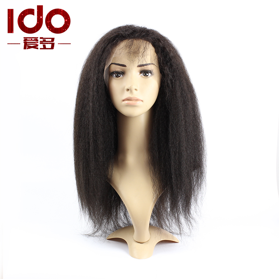 kinky straight wig aliexpress uk kinky straight lace front wig virgin hair kinky straight full lace wig human hair wigs(China (Mainland))