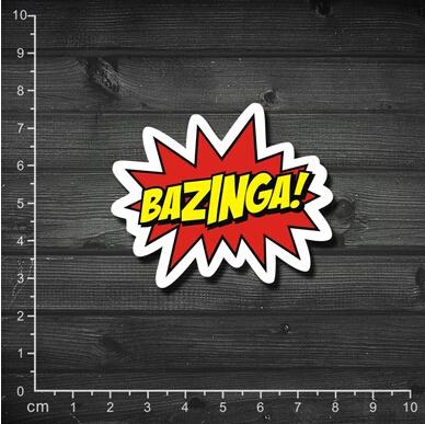 Гаджет  Single US drama The Big Bang Bazinga Sheldon classic pattern laptop stickers affixed to cartons None Автомобили и Мотоциклы