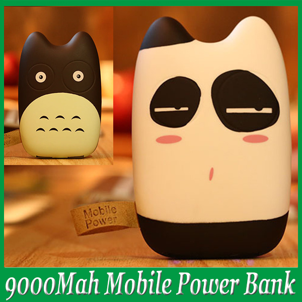 Cute Totoro Portable Grind Arenaceous Qualitative Protable Charger Backup Power Bank Promotion with Retail Package Free Shipping(China (Mainland))