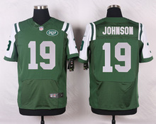 New York Jets #7 Geno Smith Elite White and Green Team Color free shipping(China (Mainland))