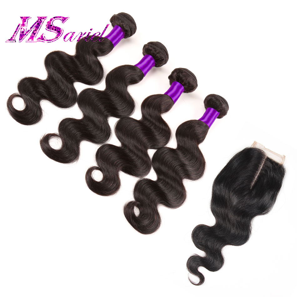 Peerless Peruvian Body Wave With Closure 4 Bundles Peruvian Virgin Hair Body Wave With Closure Human Hair Bundles With Closure