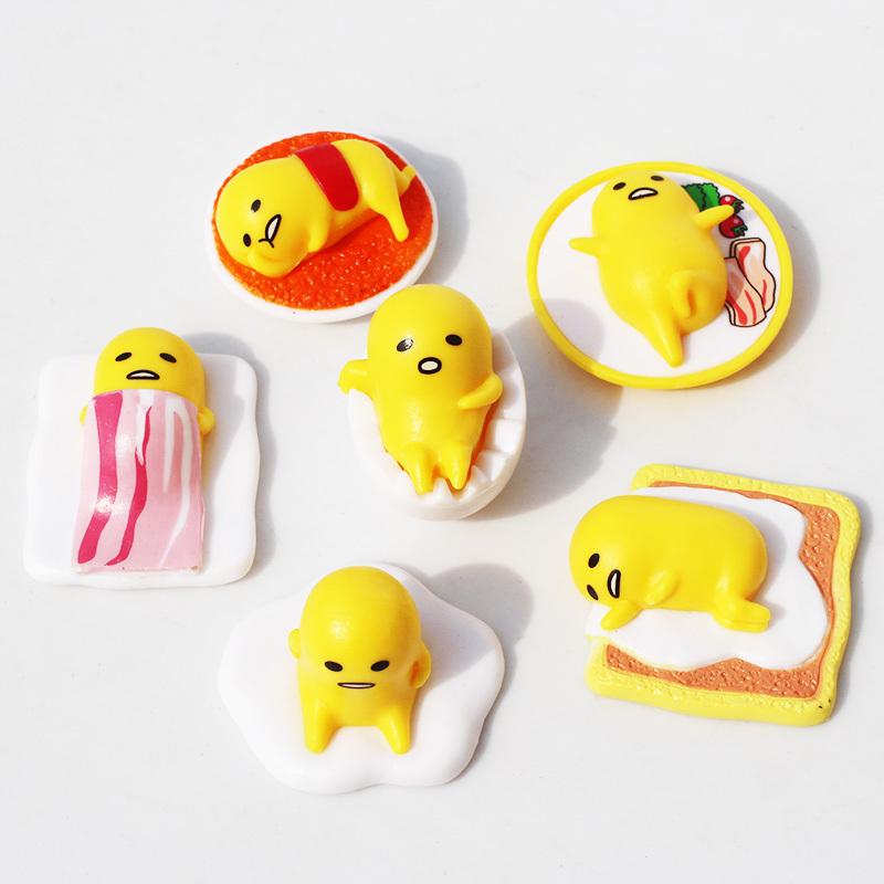 Squishy Toys Big W : 10Sets/lot Japanese Anime Cartoon Gudetama Keychains Gudetama PVC Figure Toys 2Styles Selectable ...