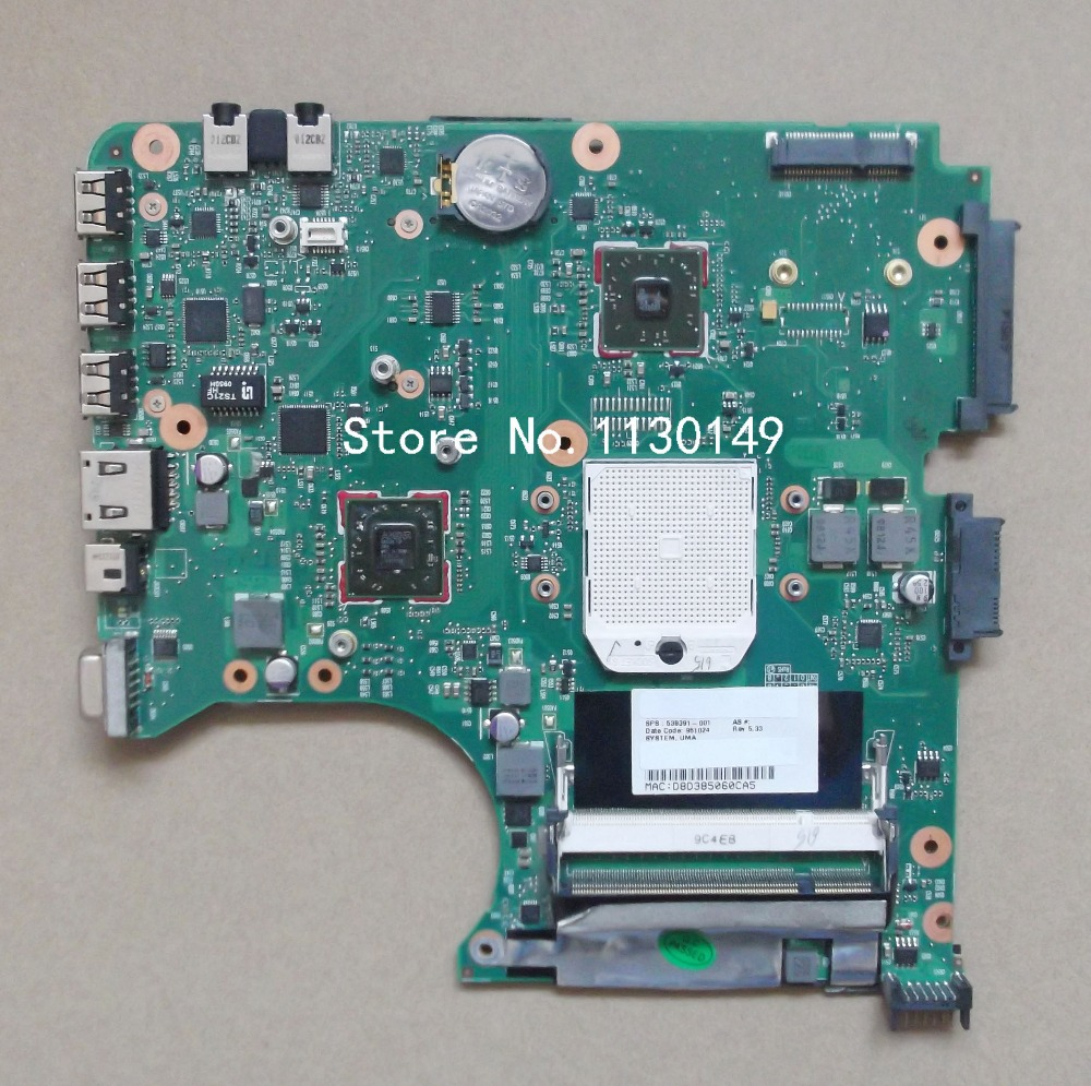 Free Shipping 538391-001 for HP compaq 515 615 CQ515 CQ615 laptop motherboard 100% full tested OK(China (Mainland))