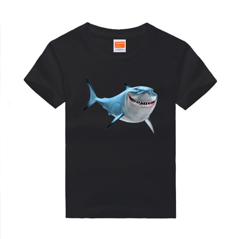 Amapo boys Finding Nemo T-shirts Clownfish mark Shirts Cotton Summer Kids Tops print 8 color choice size 3-14T(China (Mainland))