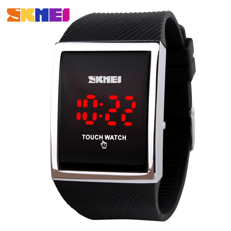 Fashion Men Women Electronic LED Touch Candy Jelly Watch Silicone Sports Digital Watch 2016 New(China (Mainland))
