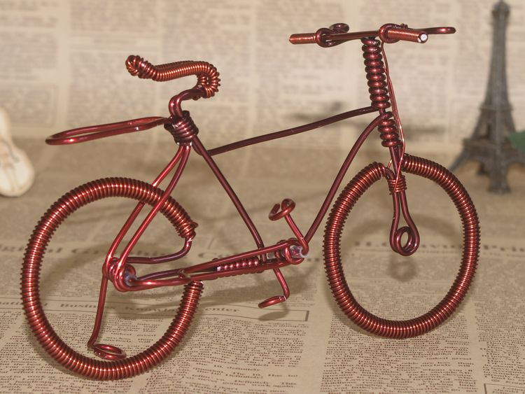 Handmade handmade enamelled wire bicycle large copper car men's(China (Mainland))