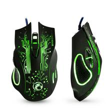 5000DPI Professional USB Gaming Mouse Wired Optical Mouse 6 Buttons E-Sports Computer Mice Ratones Pc High Quality X9