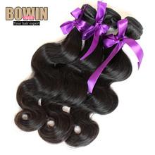 Unprocessed 6A Peruvian Virgin Hair Body Wave 100% Virgin Hair Weaves 3pcs lot Natural Black Color Peruvian Hair Bundles(China (Mainland))
