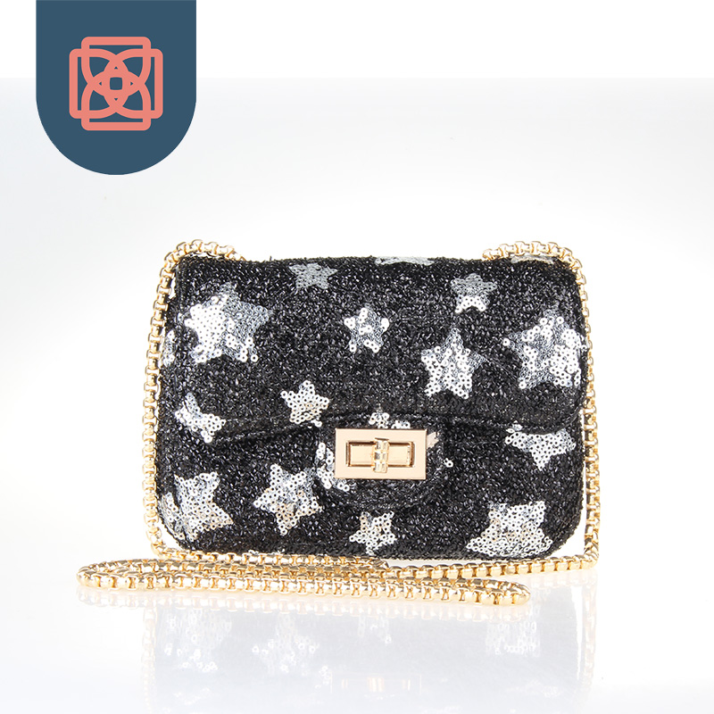 Lady Designer Small Star Bling Chain Shoulder Bag Purse Clutch(China (Mainland))