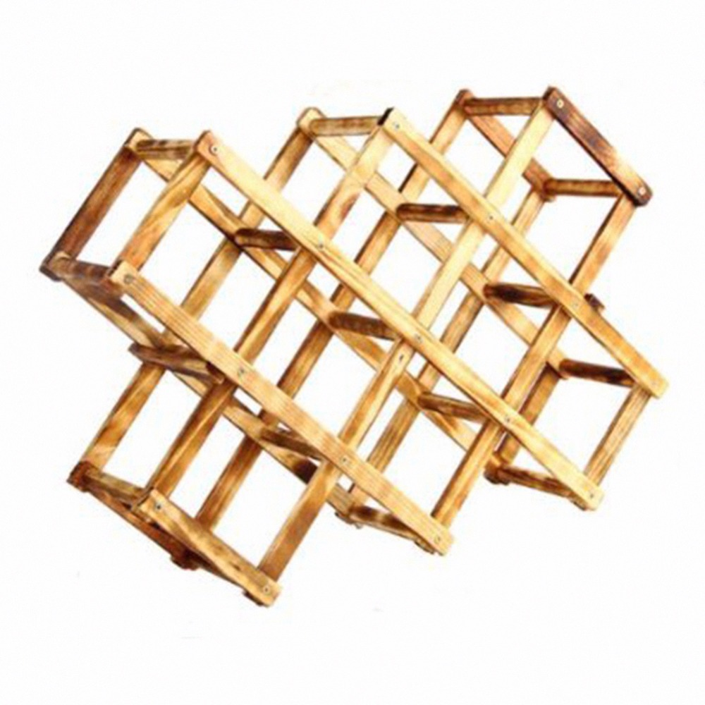 1 Piece 16.5*2.6 inch Foldable Stand Wood Wine Rack Durable Design Drink Bottle Holders Kitchen/Bar Accessories(China (Mainland))