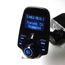 Super Hot Sale Bluetooth Car Kit Handsfree Set MP3 Player FM Transmitter USB Car Charger Support