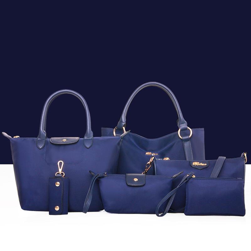 Фотография 2016 Summer New Nylon Women Bag Oxford Canvas Bag Portable Handbags bag 6 Pieces Fashion Women Messenger Bags