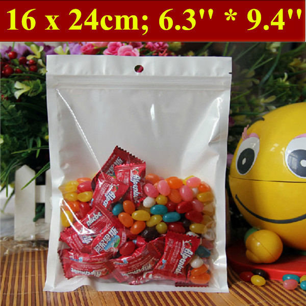 100pcs/lot 16x24cm (6.3'' * 9.4'') Thickness 160mic Laminated Food Bag,Clear Pearl Plastic Bag,Pearl Film Plastic Bag,Polybags(China (Mainland))