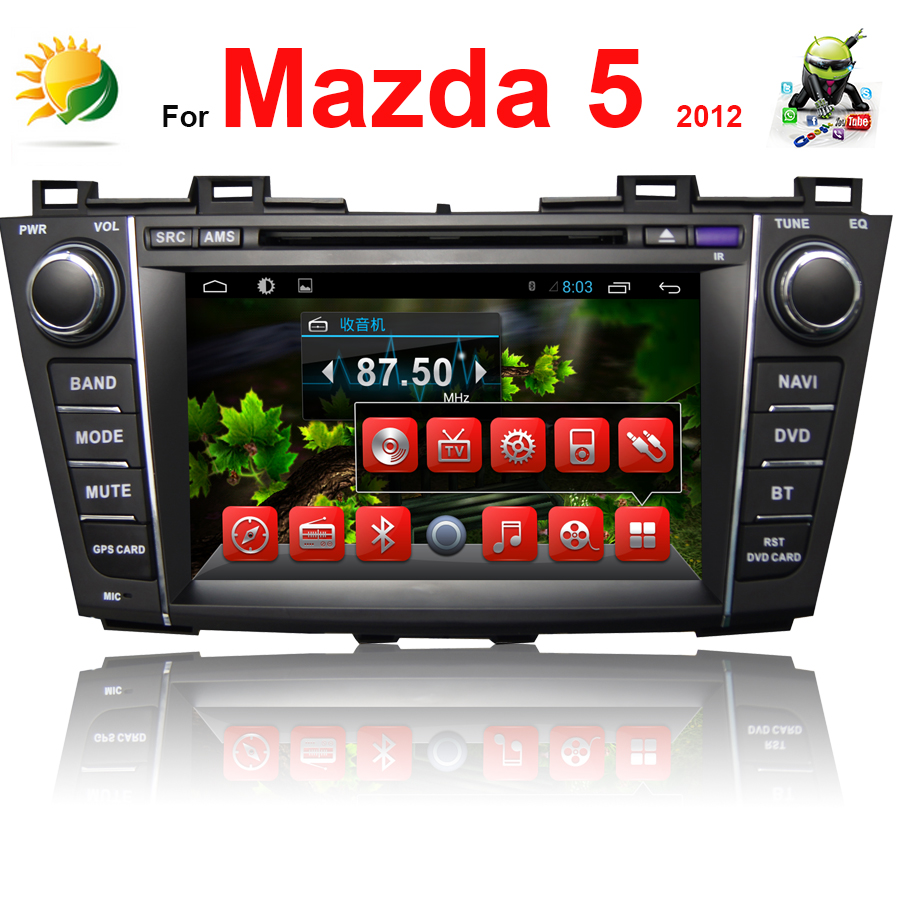 2 din 8 inch touch screen car stereo for Mazda 5 car radio bluetooth 3G WIFI TV MP3 Audio Headrest car dvd player GPS Navigation(China (Mainland))