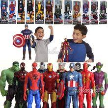 "Titan Hero Series Avengers Superheroes PVC Action Figures Toys 12"" 30cm Venom Iron Man Wolverine Darth Vader Green Goblin ZA010(China (Mainland))"