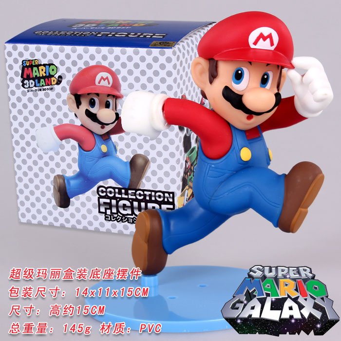 15cm Running Super Mario Bros Luigi Mario Action Figure PVC Model PVC Brinquedos Collection Model Toy For Kids #F(China (Mainland))