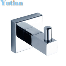 Free Shipping Robe Hook,Clothes Hook,Solid Brass Chrome finish,Bathroom Hardware,Bathroom Accessories,YT-11002(China (Mainland))
