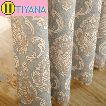 High Quality Fashion Jacquard Curtain Modern Curtain New Arrival Cloth Curtain For Living Room Luxurious Curtain Cloth(China (Mainland))