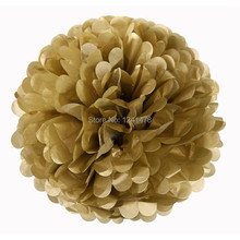 """14"""" (35cm)  5piece/lot Gold paper pom poms garlands party decorations 24 colors available free shipping(China (Mainland))"""