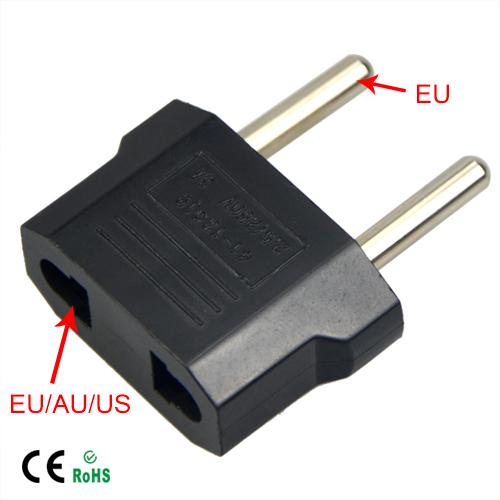 1Pcs Universal Travel US or EU to EU AC Plug Adapter Converter USA to Euro Europe Wall Power Charge Outlet Sockets(China (Mainland))