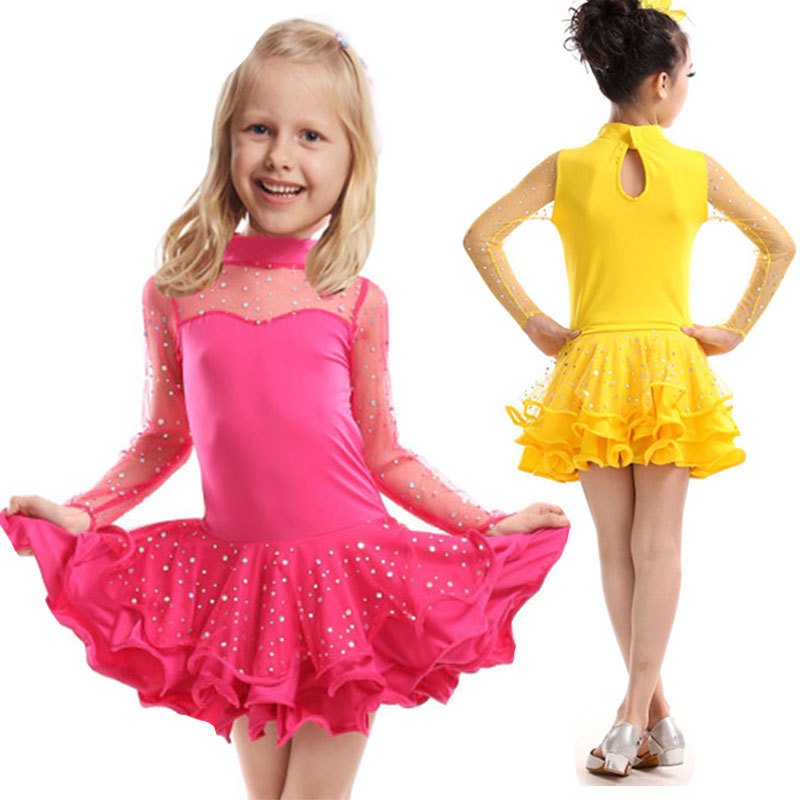 Latin Dance Dress For Girls Samba Dress Ballroom Dancing Dress Girl Dancewear Kids Kid Stage Ballet Vestido Baile Latino GirlsОдежда и ак�е��уары<br><br><br>Aliexpress