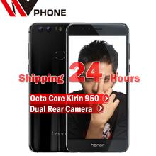 "WV Original Huawei Honor 8 4G LTE Mobile Phone dual camera Octa Core Android 6.0 5.2"" FHD 1920*1080 4G RAM 64G Fingerprint NFC(China (Mainland))"