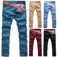 Size 28-36 2015 Spring Summer Man Trousers Slim Trousers Skinny Pants Men'S Clothing Male Casual Fashion Chino Khakis D338