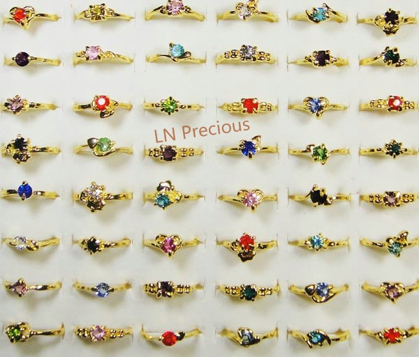 50pcs wholesale lots jewelry ring WOMENS RINGS rhinestone fashion 14K 18k gold Plated Rings New LB119free shipping(China (Mainland))