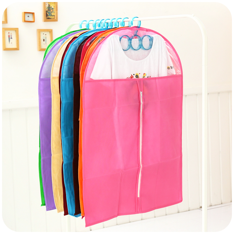 Cute Thick Fabric Dust Cover Clothes Hood Suit Jacket Transparent Storage Bags(China (Mainland))