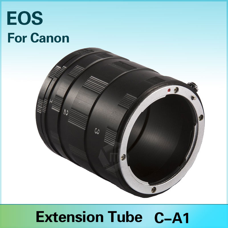 Mcoplus Metal Extension Tube Ring for Canon EOS 1100D 700D 650D 600D 550D 500D 450D 7D 6D 5D Mark II III T5i T4i T3i(China (Mainland))