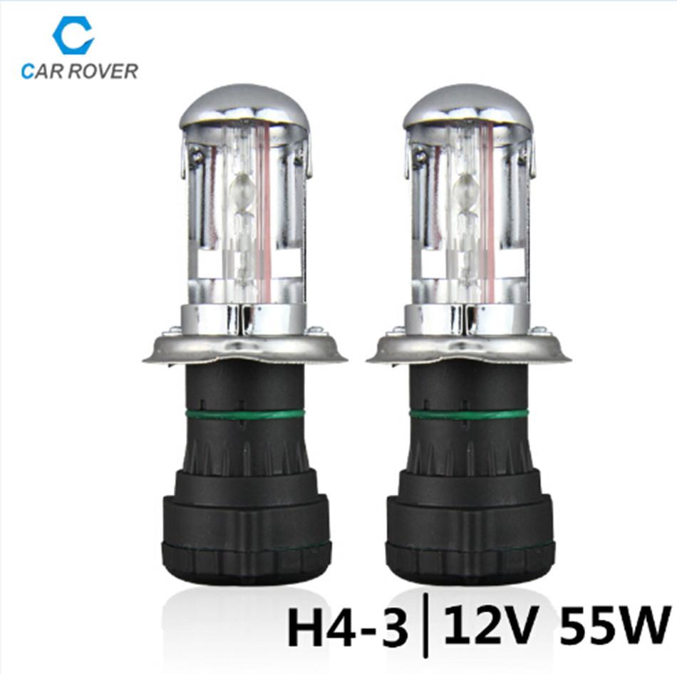 HID Xenon bulbs for car light source 55W h4-3 car Bi xenon hid kits Hi Lo Beam Lamp 4300K 6000K 8000K 10000K<br><br>Aliexpress