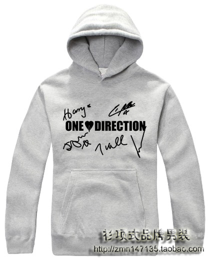One direction with a hood pullover clothes men's set 1d hoodie small autumn and winter outerwear(China (Mainland))