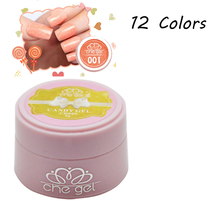 Dreamly Granulated Sugar 12 Candy Colors 6 ml UV Nail Gel Special for Nail Art ZJY029(China (Mainland))