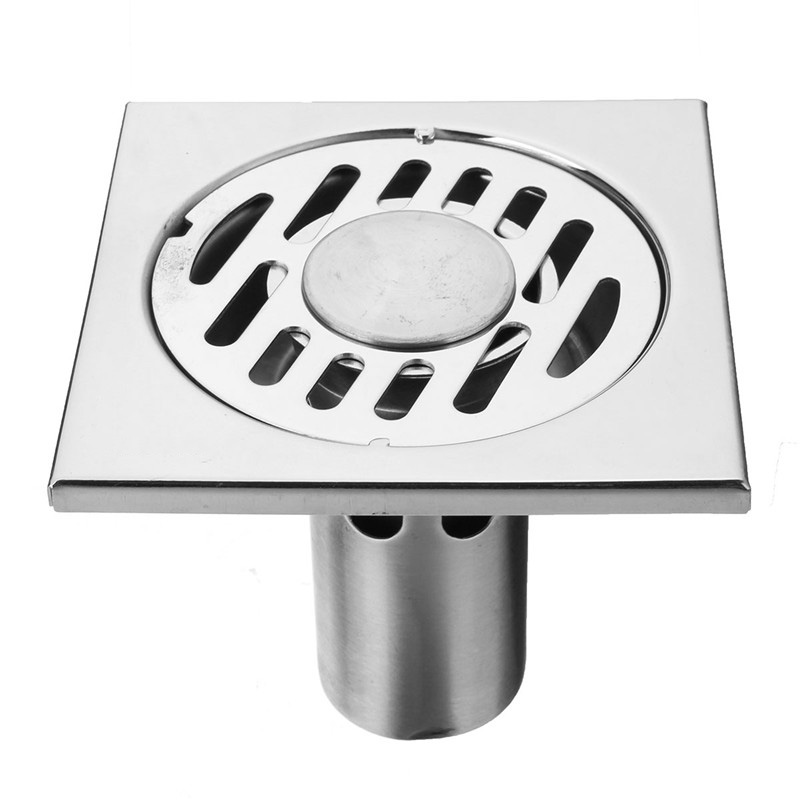 95x95mm New Arrival Bathroom Stainless Steel Shower Floor Drain Deodorant Household Cleaning Anti-backflow Mothproof Floor Drain<br><br>Aliexpress