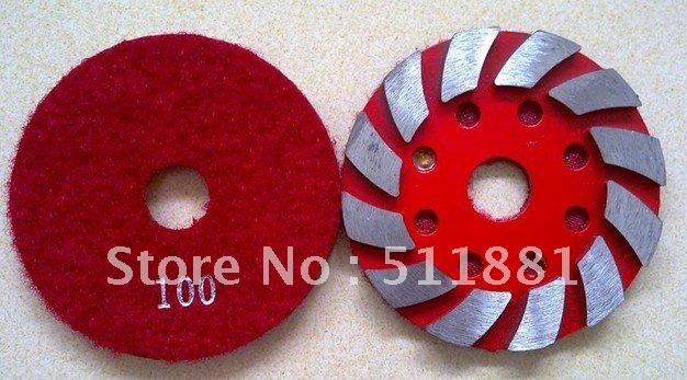 3  Metal Snip Notches Grinding pad | 80mm concrete stone floor renovation Diamond disk | easy to paste<br><br>Aliexpress