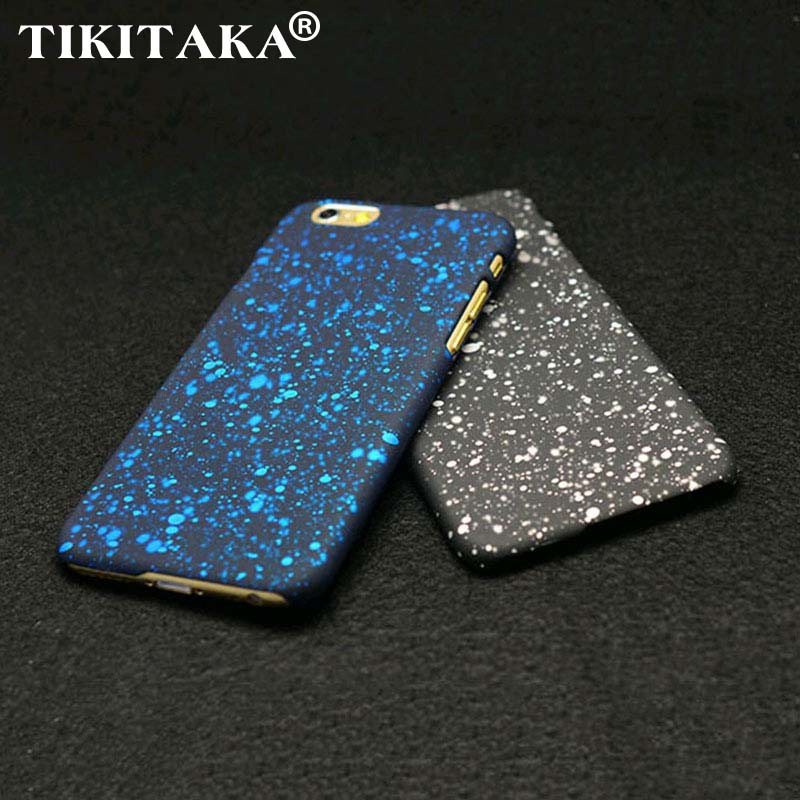 """TIKITAKA New Style 3D Cover Three-dimensional Stars Ultrathin Frosted Starry Sky Phone Case for iPhone 6 6S 4.7"""" Hard PC Cases(China (Mainland))"""