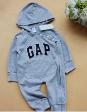 Free shipping 2016 spring autumn new Retail cap brand  baby clothing infant romper kids boys long-sleeve jumpsuit in stock(China (Mainland))