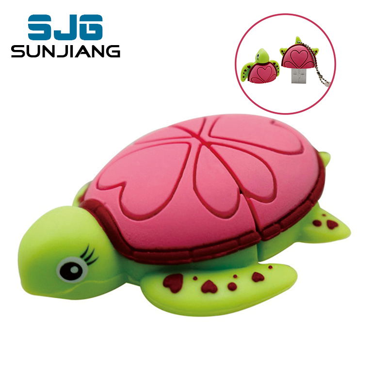 Animal USB Flash Drive 8GB cartoon Tortoise Turtle pen drive 32GB Sea turtle usb stick 4G 64GB pendrive16GB Lovely Free shipping(China (Mainland))