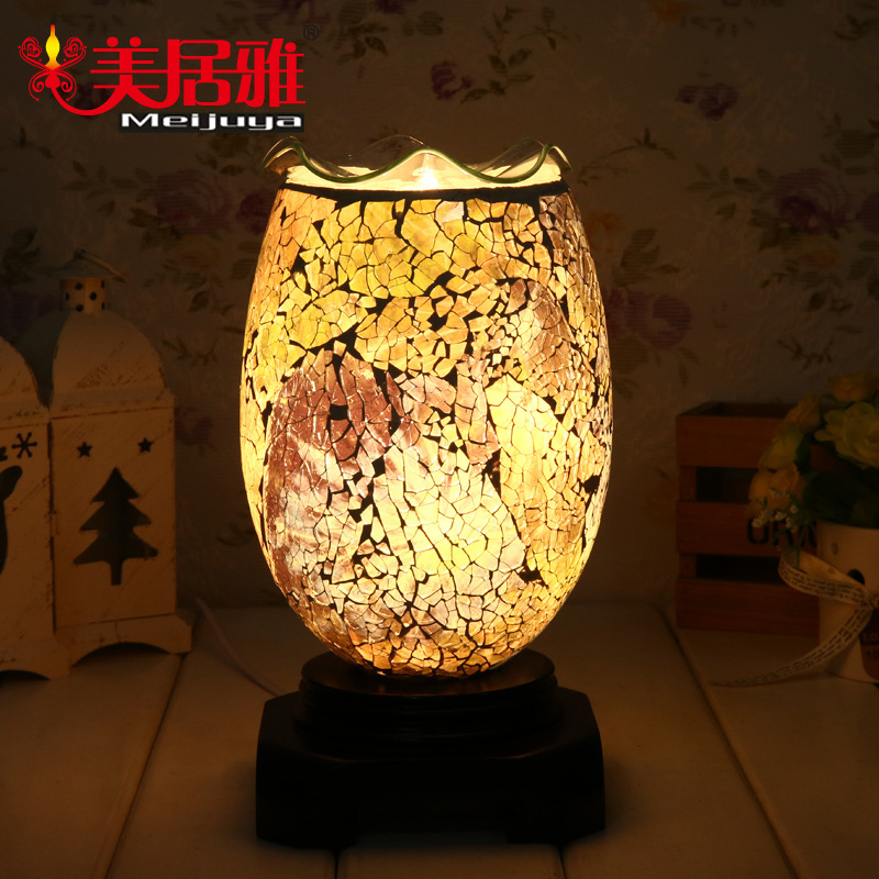 Guangdong factory direct classical elegance Mosaic fragrance lamp dimmer plug-in night light creative MA0239(China (Mainland))