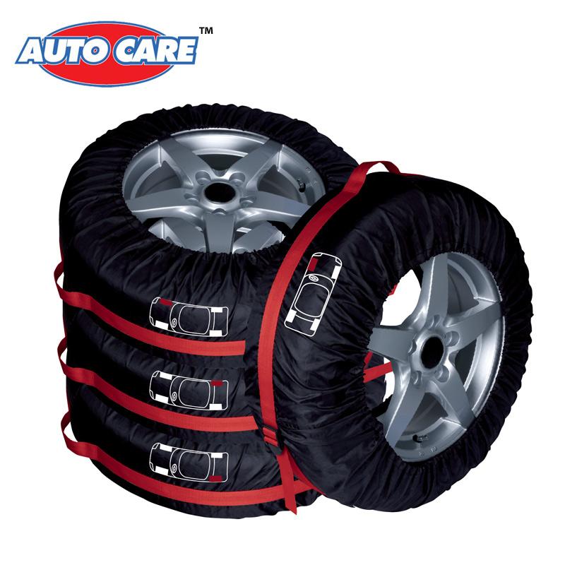 Auto Care 4PCS 4X4 Spare Tyre Cover Tire Cover Storage Bag