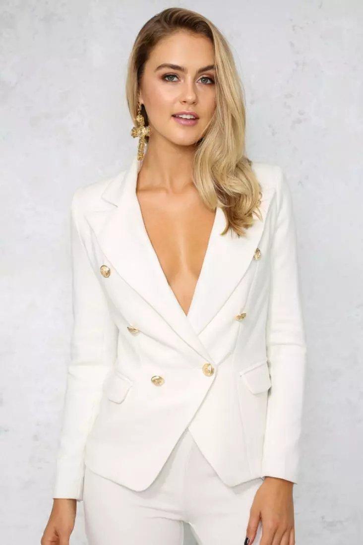 Online Get Cheap White Blazer for Women One Button -Aliexpress.com ...