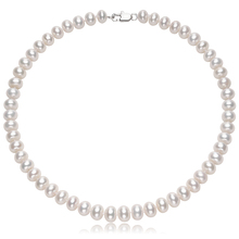 Genuine Freshwater Pearl Necklaces for Women 9-10MM White Natural Pearl Choker Necklaces Fine Jewelry by FEIGE