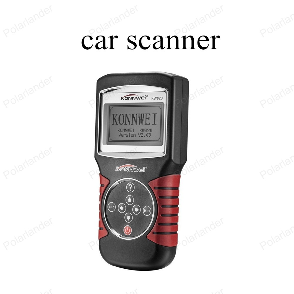 hot sell Code Scanner Fault Reader Car Diagnostic Tool KW820 CAN OBD2 Engine Managment Works For US/Asian/European Vehicles(China (Mainland))