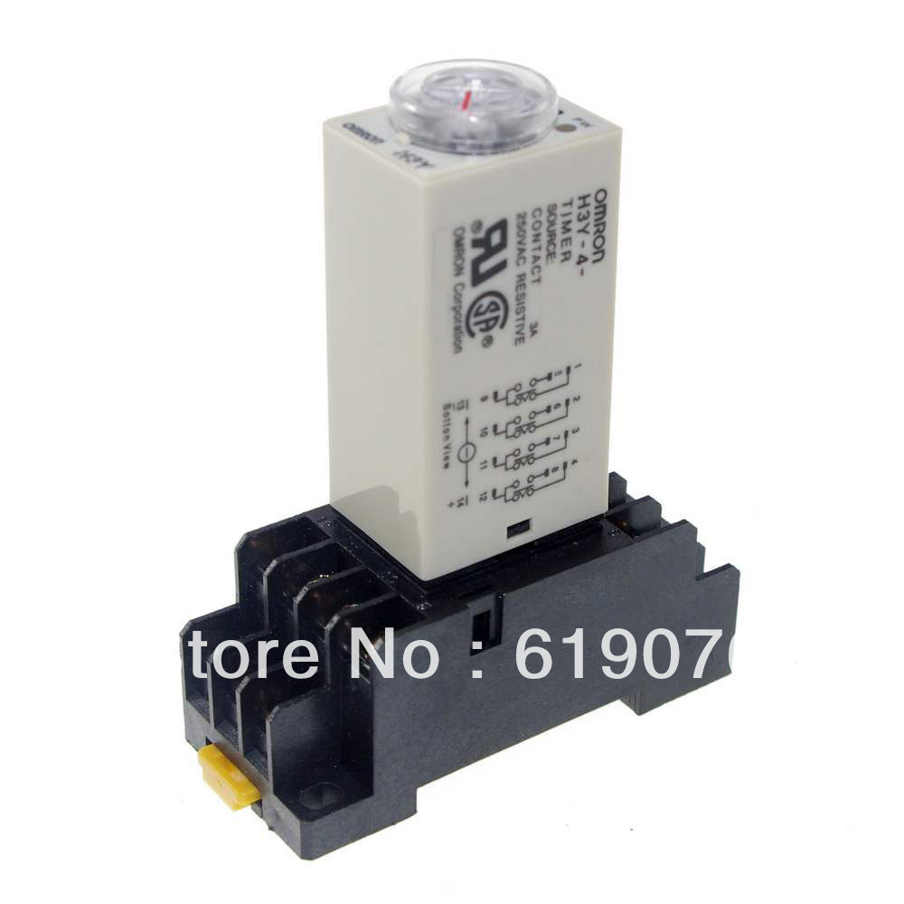 1.0~30S H3Y-4 Power On Time Delay Relay Solid-State Timer ,4PDT,14Pins &amp; Socket 12V/24/110V/220V Please tell us the voltage!<br><br>Aliexpress