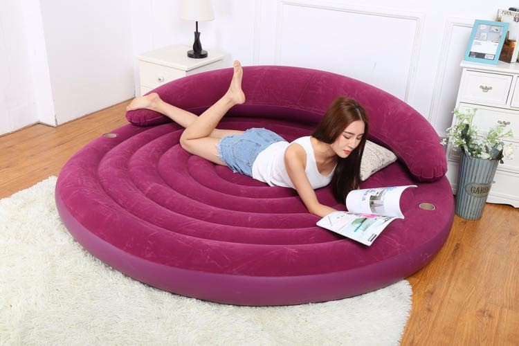 New style High-grade flocking sofa backrest Leisure time  Inflatable sofa bed Free Delivery