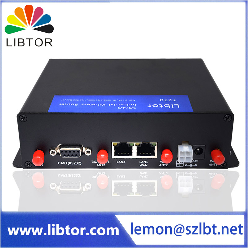 Libtor industrial grade 4g router with wide voltage(6-35V) Supporting different types of DDNS service and VPN function(China (Mainland))